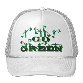 Customized Go Green Hat|Environment|Air|Earth. Cap
