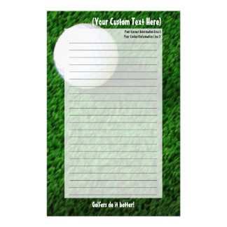 Customized Golf Stationery