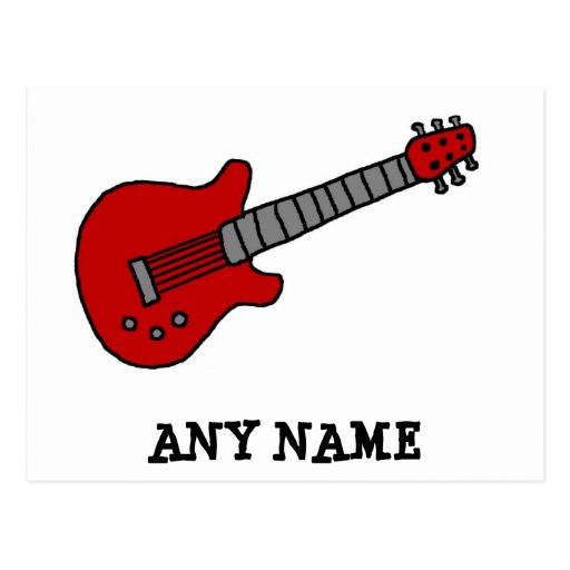 Customized Guitar Shirt for Boys or Girls Postcards
