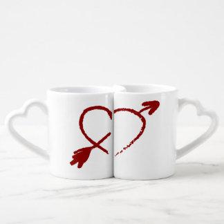 Customized Half Of My Heart Lovers Mugs Lovers Mug