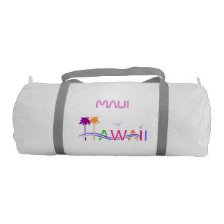 Customized Hawaii Island Illustration Gym Duffel Bag