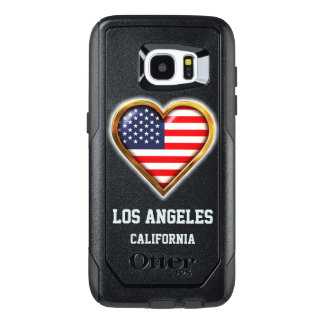 Customized Heart Shaped American Flag OtterBox Samsung Galaxy S7 Edge Case