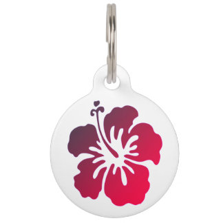 Customized Hibiscus Flower Pet Tag