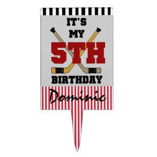 Customized Hockey 5th Birthday Cake Topper