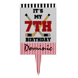 Customized Hockey 7th Birthday Cake Topper