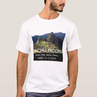 Customized Inca Trail Machu Picchu Commemorative T-Shirt