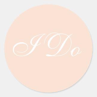 Customized Invite Linen Classic Round Sticker