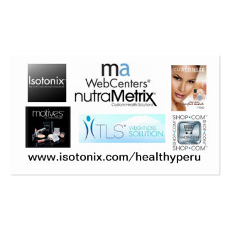 Customized Isotonix business card Business Card Templates