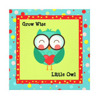 Customized kids Owl Quoted Canvas Canvas Print