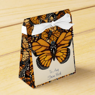 Customized Monarch Butterfly Migration Favour Box