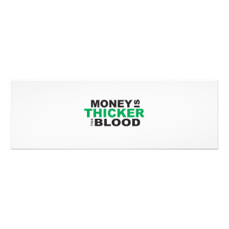 Customized Money is Thicker Than Blood Mug Watches Photo