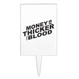 Customized Money is Thicker Than Blood Plates Cake Picks