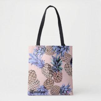 Customized Name Pineapple Tote