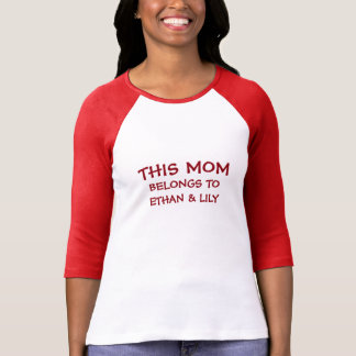 Customized names for Mom Shirt
