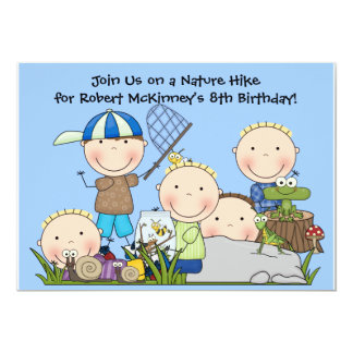 "Customized Nature Hike Birthday Invitation 5"" X 7"" Invitation Card"