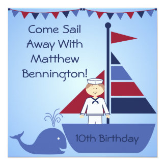Customized Nautical Birthday Invites