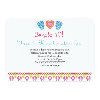 Customized Papel Picado Style Skulls Invite