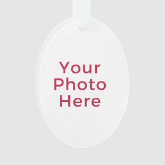 Customized Personalized Photo Double Sided DIY Ornament