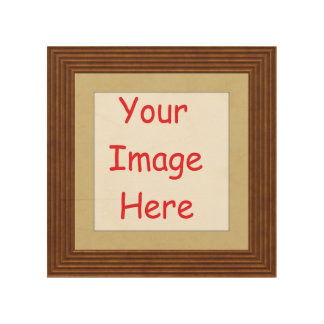Customized personalized printed frame picture - wood print
