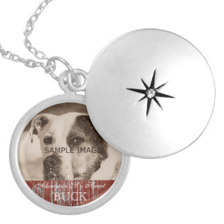 Customized Pet Photo Memorial Keepsake Silver Plated Necklace