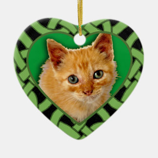 Customized Pet Photo on Heart Shaped Ornament
