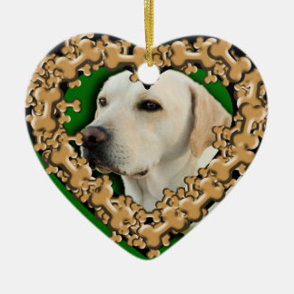 Customized Pet Photo with Dog Bones Ornament