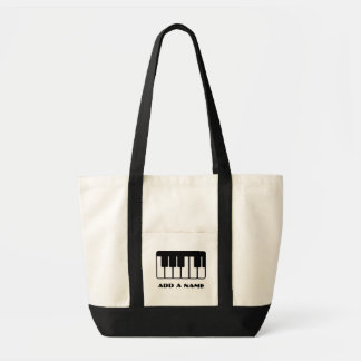Customized Piano Music Canvas Tote