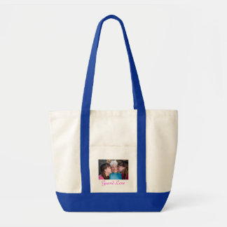 Customized Picture Grandkids Beach Tote Bag