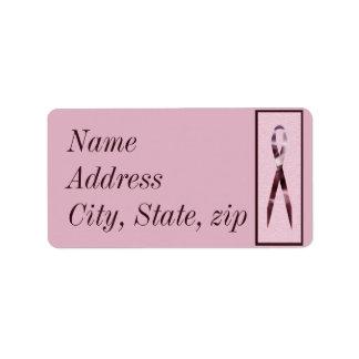 Customized Pink Ribbon Address Label