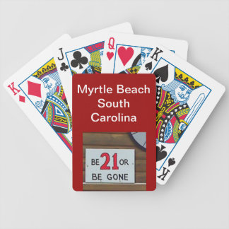 customized playing cards-Myrtle Beach SC Bicycle Poker Cards
