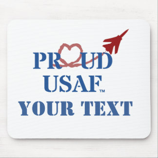 Customized Proud USAF - Jet with Heart Vapor Mouse Mat