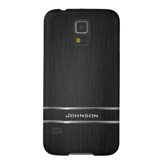 Customized Pure Brushed Metal with Silver Bar | Galaxy S5 Covers