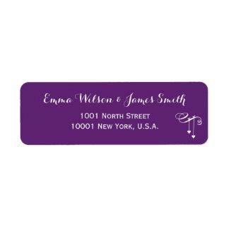 Customized Purple Personalized Address Labels