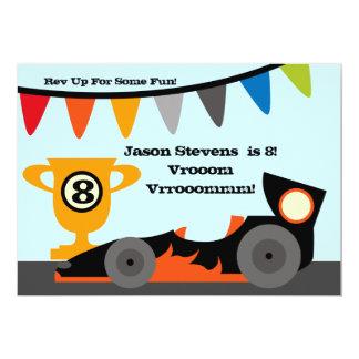 "Customized Racing Car Birthday Invitations 5"" X 7"" Invitation Card"