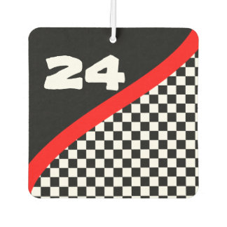 Customized Racing Flag Air Freshener
