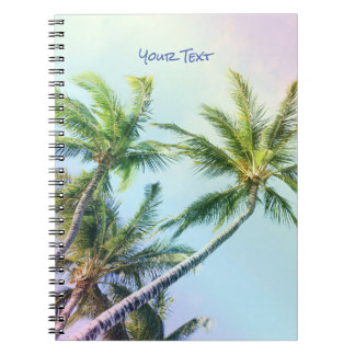 Customized Relaxing Rainbow Color Palms Notebooks