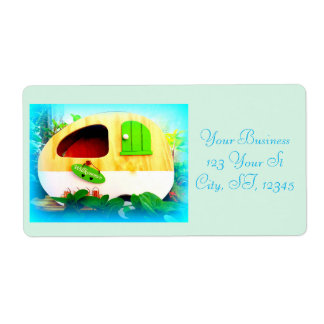 Customized Retro Vintage camper Shipping Label