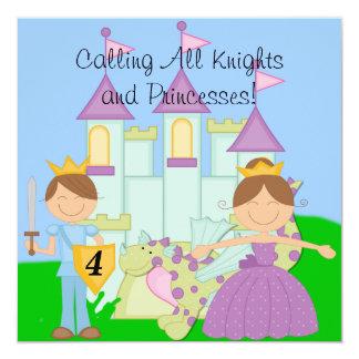 "Customized Royal Birthday Celebration Invitations 5.25"" Square Invitation Card"