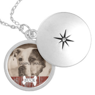 Customized Rustic | Pet Photo Memorial Keepsake Locket Necklace