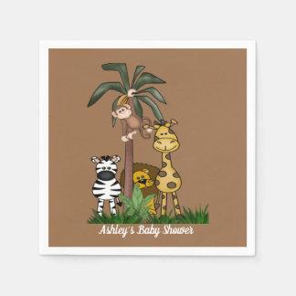 Customized  Safari Jungle Baby Shower Disposable Serviette