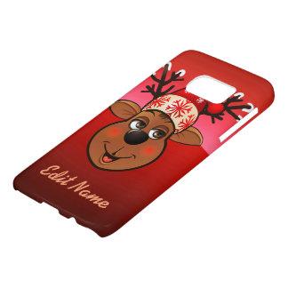 Customized Santa's Reindeer Cartoon