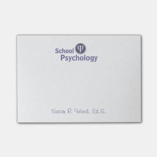 Customized School Psychology Post It Notes