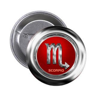 Customized Scorpio Zodiac Glyph 6 Cm Round Badge