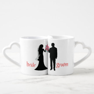 Customized Silhouette Bride and Groom Lovers Mugs Lovers Mug