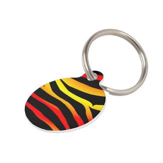 Customized Small Tiger Stripes Print Pet Tag