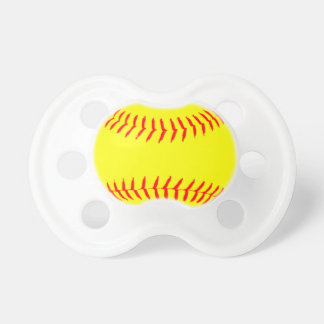 Customized Softball Baby Pacifiers