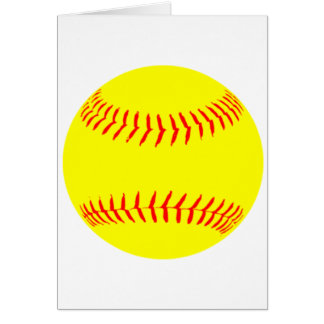 Customized Softball Card