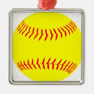 Customized Softball Christmas Ornament