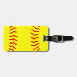 Customized Softball Luggage Tag