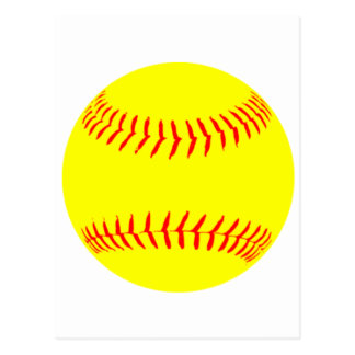 Customized Softball Postcard
